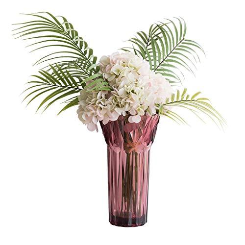 NYKK Künstliche Blume Kreative Glasflasche Artificial reicher Bambus künstliche Lilien-Blumen-Rosen-Blumen-Set, Haus Hochzeit Simulation Blumenschmuck, künstliche gefälschter Blumentopf Ewige Blume