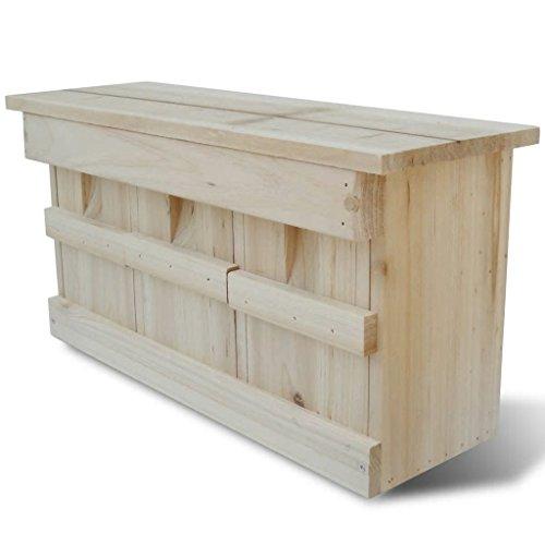 mewmewcat Nistkasten Spatzenkolonie Spatzenhaus aus Holz für 3 Brutpaare