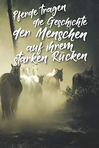 Pferde tragen die Geschichte der Menschen auf ihrem starken Rücken: Jahres-Kalender für das Jahr 2020 Terminplaner für Pferde Reiter Organizer