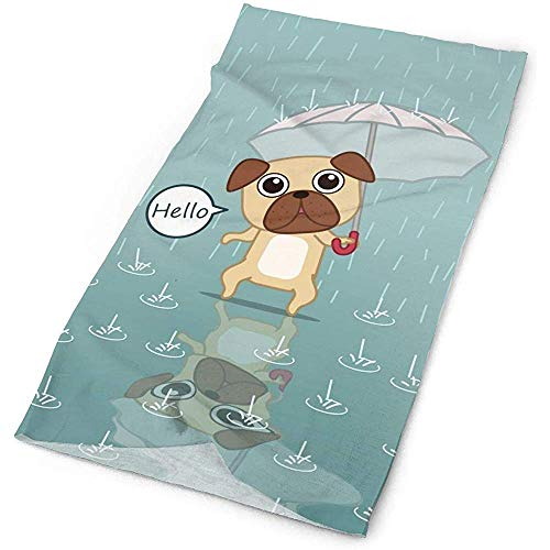 KDU Fashion Hoofdbanden, Leuke Hond Holding Een Paraplu Polyester Snelle Droge Hoofdband, Koele Hoofd Buiten Magic Hoofd Sjaal Bandana Masker Hals Gaiter