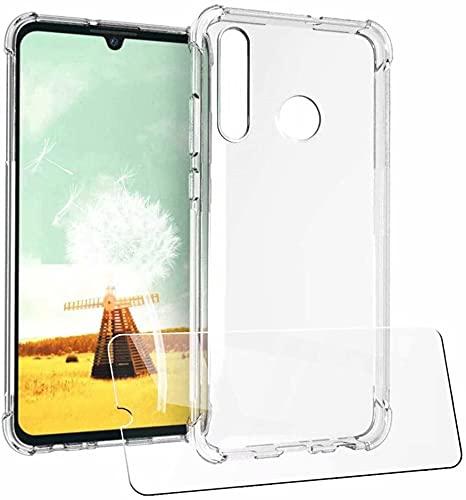 YaMiDe Hülle Kompatibel mit Huawei P Smart Plus Hülle, Kompatibel mit Huawei Nova 3i, mit 2 Stück Schutzfolie, Weicher TPU Hülle, Superdünner Hülle im Luftkissenstil, Transparent Hülle