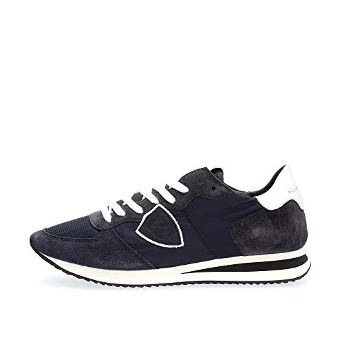 Philippe Model Sneaker Tropez X In Camoscio E Tessuto Blu