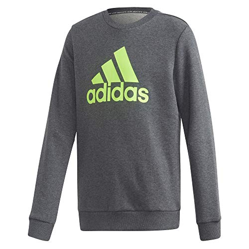 adidas Kinder Must Haves Crew Sweatshirt, Dgreyh/Sesosl, 140