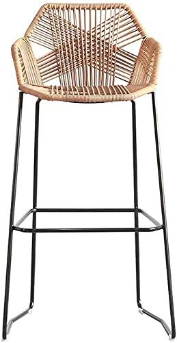 WWJ Silla de Comedor Silla de ratán Hecha a Mano |Mimbre de ratán |Muebles de Patio al Aire Libre, Patio Trasero, Porche, jardín (tamaño: 75 cm de Altura)