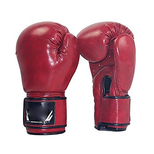 Boxen-Trainings-Handschuhe 4Colors PU Erwachsenenbildung Boxhandschuhe Muay Thai Boxing Sparring Stanzen Kickboxen (Farbe: Gelb, Größe: 14 Unzen) 1yess (Color : Red, Size : 10oz)
