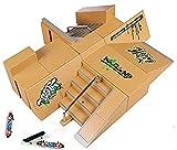 Kidsdream – Parque de skate de 8 piezas con 3 skates para controlar con tus dedos