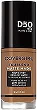 Covergirl Trublend Matte Made Liquid Foundation, D50 Deep Golden (Pack of 2)
