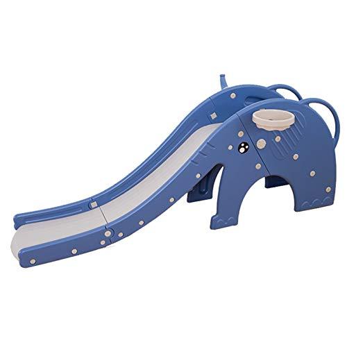 BaoYPP Diapositiva de Jardín Niños al Aire Libre Diversión Garden Play Center Tobogades para niños Parque infracantes para niños Fácil de Almacenar (Color : Azul, Size : 74X195X42CM)