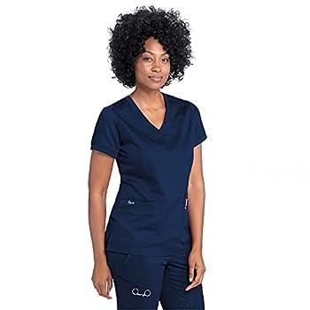 BARCO Grey's Anatomy Women's Kira Scrub Top - Indigo S