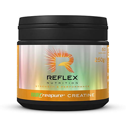 Reflex Nutrition Creapure Creatine Powder Suitable For Vegans (250g) (Made in the UK)