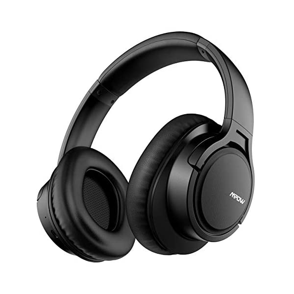 Mpow H7 Bluetooth Headphones Over Ear, Comfortable Wireless Headphones w/Bag, Rechargeable HiFi Stereo Headset, CVC6.0 Headphones with Microphone for Cellphone Tablet(Black) 3