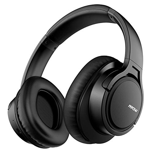 Mpow H7 Cuffie Bluetooth, Cuffie Over Ear Comode, Cuffie Bluetooth Wireless con Microfono CVC6.0, Cuffie Audio Hi-Fi con Cuffie da Studio Padiglione Super Morbido per TV/Cellullari/PC