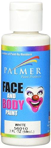 Palmer 56010-36 Face & Body Paint, 2 oz, White