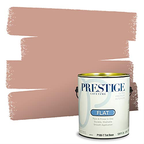 Prestige Paints Interior Paint and Primer In One, 1-Gallon, Flat, Comparable Match of Benjamin Moore Palmetto Pink