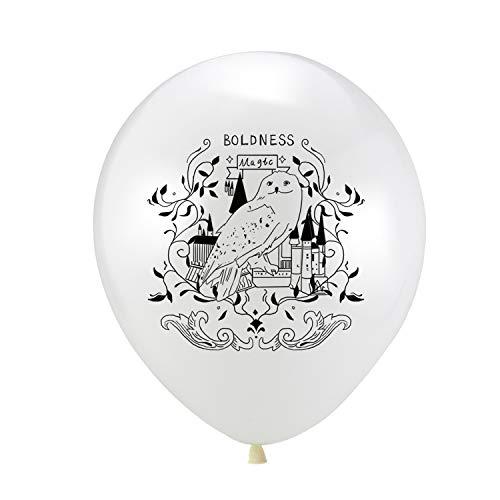 Globos azules, 10pcs 12inch regalos de la ducha Oro Negro Mágico látex del globo del cumpleaños del bebé del partido de la decoración del partido de Potters Harrys Niños Juguetes Globos, blancos