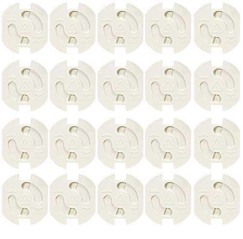 20 Stück Schuko Steckdosensicherung Kinderschutzsicherung für Schukosteckdosen Steckdosen Kinderschutz mit Automatikverschluss