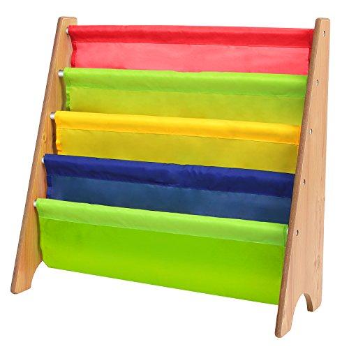 HOMFA Librería Infantil Biblioteca bolsillos colores