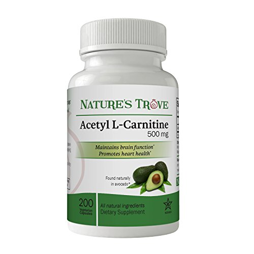 Acetyl L-Carnitine (ALCAR) 500 mg by Nature's Trove - 200 Vegetarian Capsules