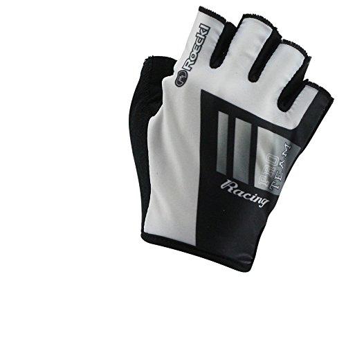 Roeckl guantes de ciclismo MTB verano corto del dedo blanco Negro 1254,...