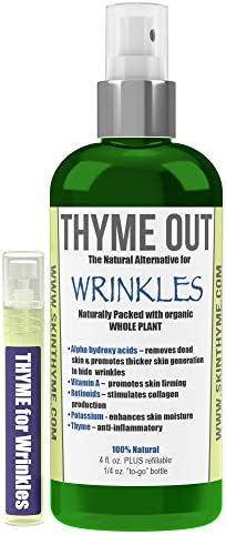 Thyme Out Natural Alternative for Wrinkles 4oz Anti Aging Facial Mist with Natural Retinol Bakuchiol product image