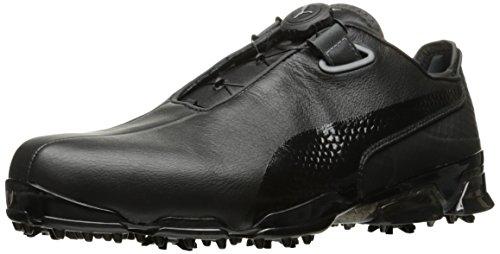 PUMA Golf Men's TT Ignite Premium DISC Golf Shoe, Black/Dark Shadow, 11.5 M US