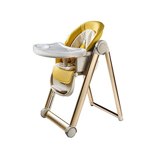 Buy Discount CUJUX Children's Dining Chair-Folding High Chair for Babies Toddlers, Space Saving with...
