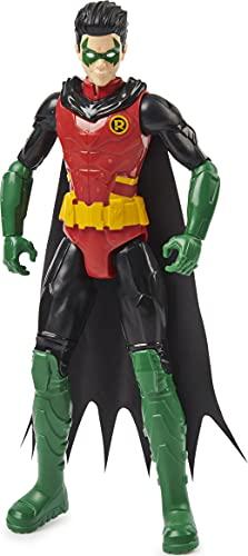 dc comics Inch Action, for Kids Aged 3 and up Batman 12 Pulgadas Robin Figura de acción, para niños de 3 años en adelante, Color Gris (Spin Master 6060023)