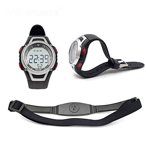MIAOGOU Relojes Deportivos frecuencia Fitness Pulse Calories Monitor de Ritmo cardíaco inalámbrico Correa para el Pecho Reloj Polar Digital Hombres Mujeres Relojes de Pulsera Impermeable Correr