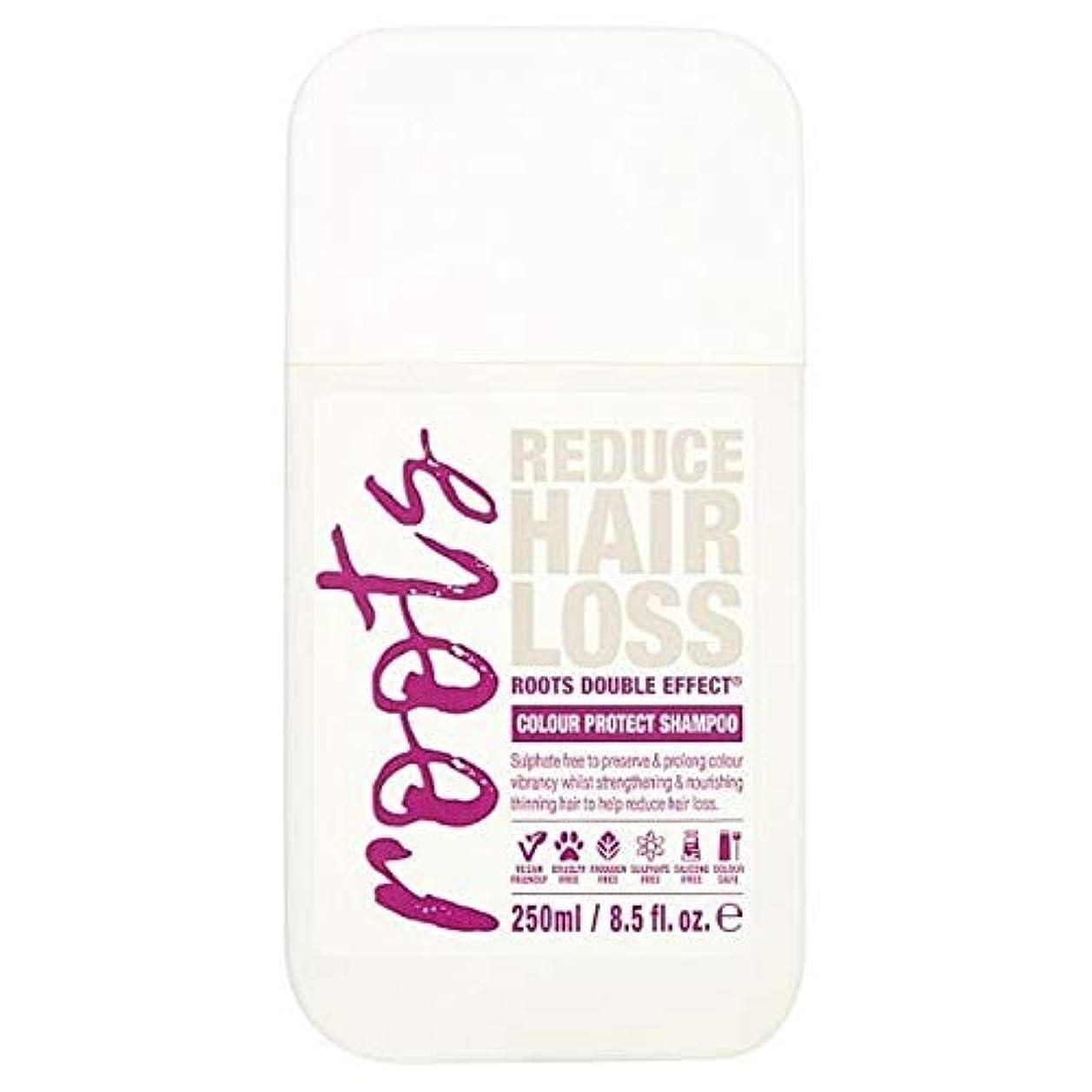 くびれた郊外リーン[Roots ] 色の髪の250ミリリットルのための根のダブル効果シャンプー - Roots Double Effect Shampoo for Coloured Hair 250ml [並行輸入品]