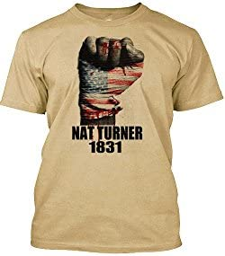 NAT Turner T Shirt Black History Month 2 Sided Print Quote Tan Large product image
