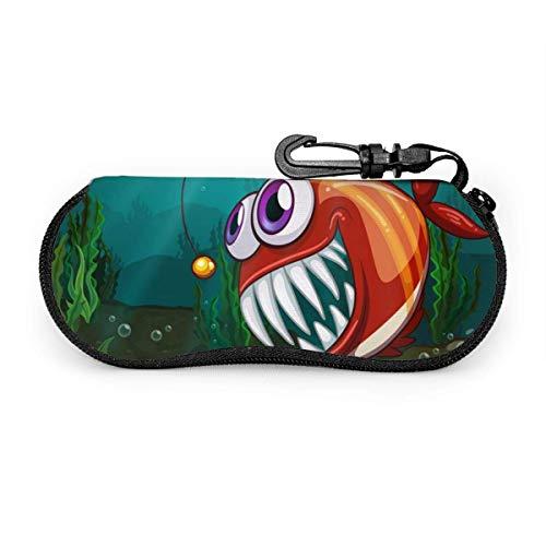 lymknumb ? a Big Fish Under The Sea Estuche para gafas Estuche para gafas Estuche para gafas portátil Estuche para gafas portátil con cerradura con llave