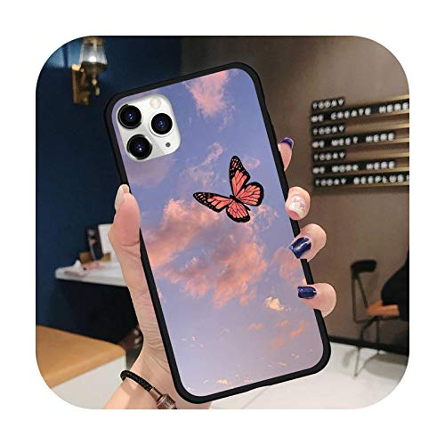 Butterfly sky cloud Phone Case for iPhone 11 12 pro XS MAX 8 7 6 6S Plus X 5S SE 2020 XR-a7-iPhoneXSMAX