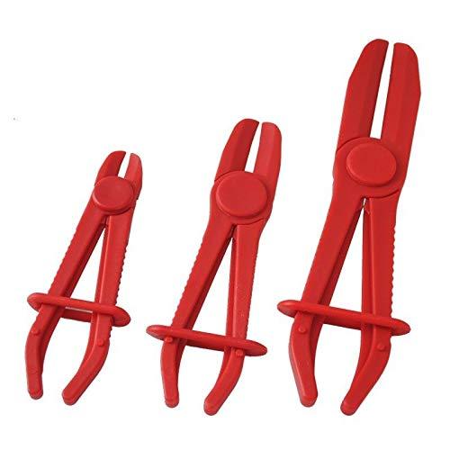 AUFUN Abklemmzange Satz 3-tlg Schlauchklemmen Zange Set Kunststoff Schlauch 160 mm, 185 mm, 250 mm für flexible Schläuche, Kühlwasserschläuche, Benzinschläuche
