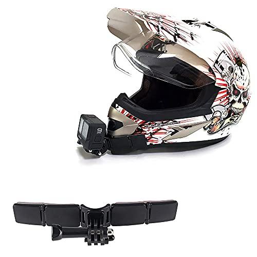 Kit di montaggio per casco da moto con cuscinetti curvi adesivi per GoPro Hero 9, 8, 7, (2018), 6 5 4 3, Hero Black, Session, Xiaomi Yi, SJCAM, AKASO, Campark e altre action cam