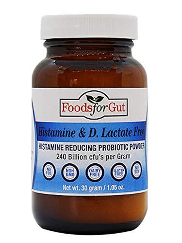 Histamine & D Lactate Free Probiotics Powder 240 Billion CFU 30 Gram | Digestive & Immune Support | High Potency | by Foods for Gut