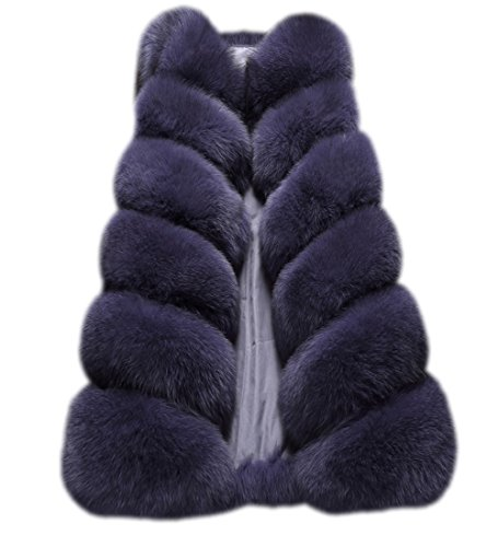 FOLOBE Womens 'Winter Warm Faux Pelz Weste Mantel Jacke