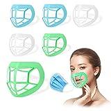 6 piezas de soporte facial, lavable para la boca y la nariz protección cara interior marco de...