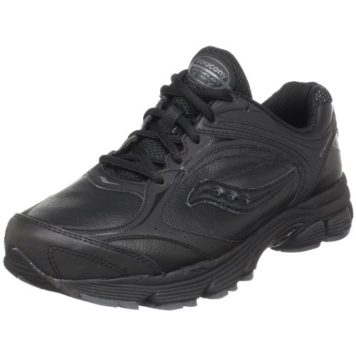 Saucony Women's ProGrid Echelon LE Walking Shoe,Black/Grey,7.5 W US