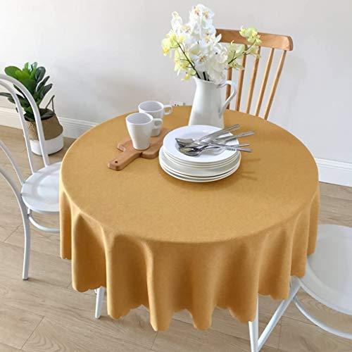 TAIDENG Mantel redondo de lino moderno y minimalista para restaurantes (color: naranja, tamaño: 110 cm)
