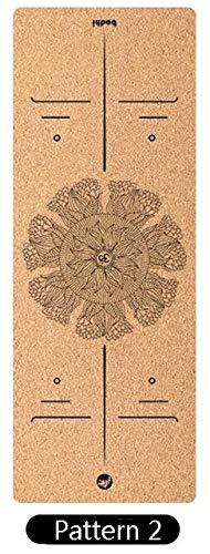 N / A Colchoneta de Yoga colchoneta de Fitness colchoneta Antideslizante colchoneta de Yoga de Gimnasio Deportivo Apta para colchoneta de Gimnasia Antideslizante de Pilates 183x65x0,6 cm