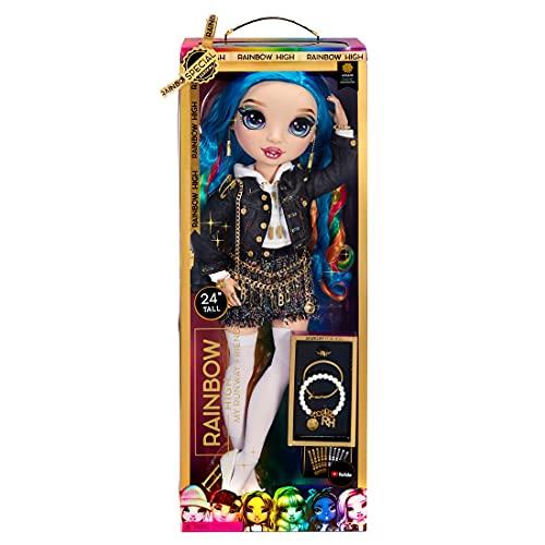 Rainbow High Muñeca grande - Juguete para niños - Muñeca de moda de edición especial de 60 cm - Pelo arcoíris multicolor de 35 cm y más de 25 accesorios - Edad: 6-12 años