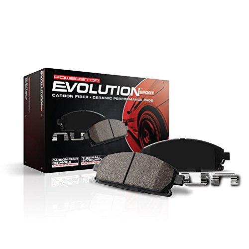 Power Stop Z23-757, Z23 Evolution Sport Carbon-Fiber Ceramic Rear Brake Pads