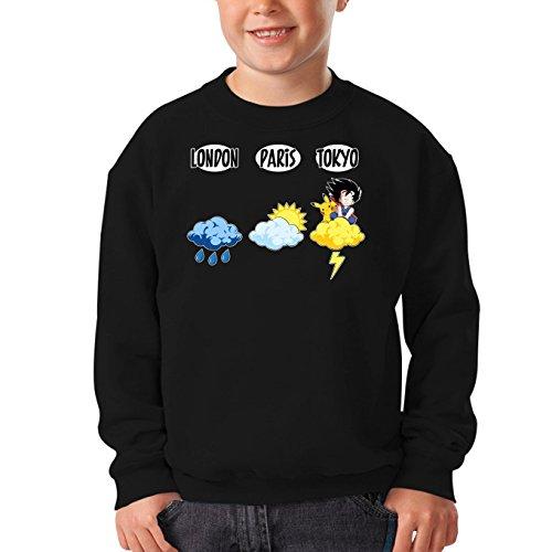 OKIWOKI trui voor kinderen, zwart, Dragon Ball Z - Parodieus Pokémon Sangoku en Pikachu: (Parodie Dragon Ball Z - Pokémon)