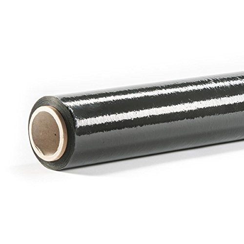HaGa® stretchfolie, verhuisfolie, verpakkingsfolie, folie, folie, 150 m x 500 mm x 23 μm, zwart