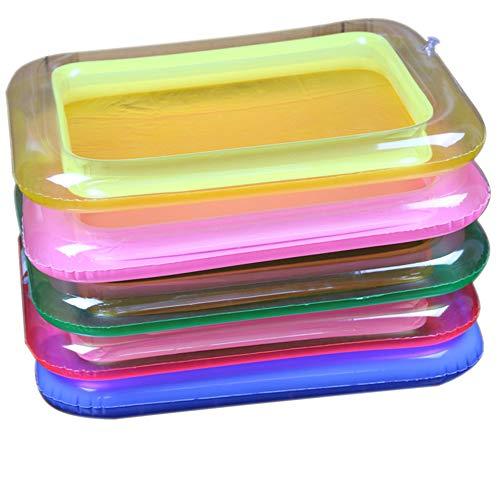 Goolsky 1pcs Portable bac à Sable Plaque Gonflable pour activités sensorielles cinétiques Sable Sauter Sauter Plateau de Jeu éducation Couleur aléatoire