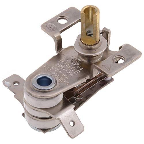 Interruptor de temperatura ajustable de 90 grados Celsius AC 250V 16A termostato de calefacción bimetálico KDT-200