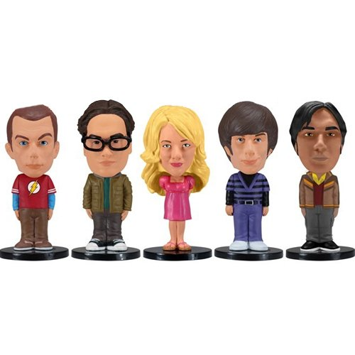 Wacky Wobbler - Pack 5 Mini Figuras de 8 cm, diseno The Big Bang Theory (Funko FUNWWBT2874)