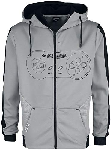 Nintendo SNES - Super Entertainment System - Controller Männer Kapuzenjacke schwarz/weiß L