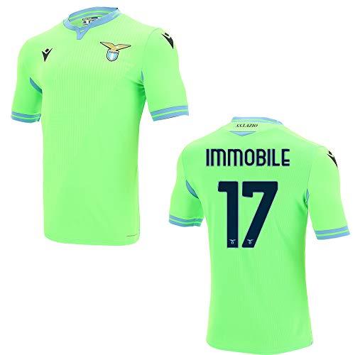 Macron SS Lazio ROM Trikot Away Herren 2021 - IMMOBILE 17, Größe:XXXL, Spielerflock (zzgl. 17.90EUR):17 Immobile