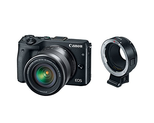Buy Canon EOS M3 Mirrorless Camera Kit with EF-M 18-55mm Image Stabilization STM Lens and Mount Adap...